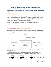 04b Dynamic behavior of first-order system