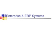 ERP and Enterprise Systems