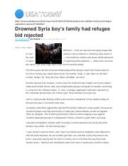 Assignment No 5B Drowned Syria boy.docx