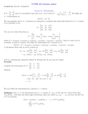 Chapter 3 Linear Algebra notes