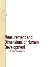 Measurement and Dimensions of Human Development.ppt