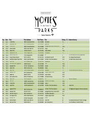 2016 movies in the park