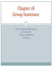 W4 - GROUP INSURANCE