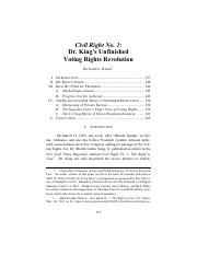 Hasen - 2018 - Civil Right No. 1 Dr. King's Unfinished Voting Rights Revolution (1).pdf