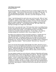 Cultural baggage barbara ehrenreich essay cover letter for truck drivers