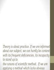 ACC518 - Topic 01 - Nature of Theories