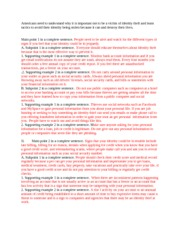 Identity theft research paper outline