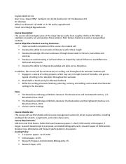 English 343W Fall 2016 Syllabus and Policies-2.docx