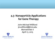 4.3 Nanoparticles for Gene Therapy