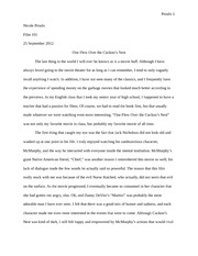 Favorite Movie Essay
