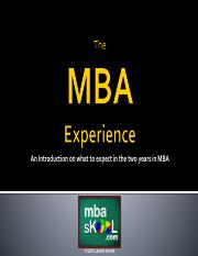 The MBA Experience.pdf