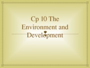 Cp 10 The Environment and Development