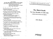 John Aberth-The Black Death_ The Great Mortality of 1348-1350_ A Brief History with Documents (Bedfo