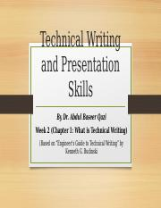 Week2a What is Technical Writing