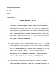Chapter 9 Concluding Case- DIY
