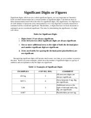 Significant digits handout