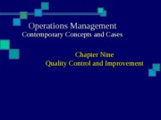 9 - Quality Control and Improvement