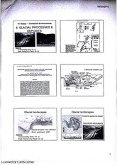 Terrestrial Environments - Glacial Processes and Deposits Lecture Notes