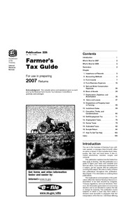 IRS 2007 Farmers Tax Guide pub 225