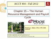 Chapter 15 - HRM and Payroll Cycle