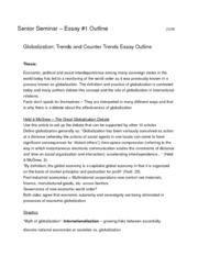 Globalization Essay Outline