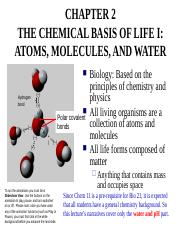 Ch 2e Chemical Basis of Life