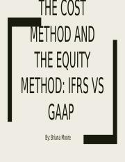 the COST METHOD AND THE EQUITY METHOD powerpoint