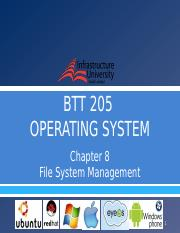 [9] Chapter 8 - File System Management