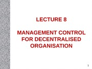 Lecture 8_Decentralisation and Transfer pricing