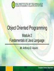 Module 2 - Fundamentals of Java Language.pdf
