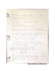 the maple equation notes