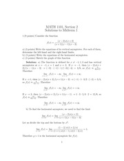 MATH 1101 Fall 2013 Midterm 1 Version 2 Solutions