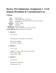 Civil Dispute Resolution & Constitutional Law.docx
