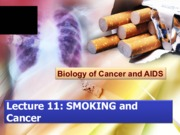 Lecture 12: Smoking and Cancer