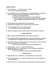 Intro to Criminal Justice-Probations and Sanctions Study Guide