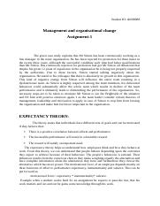 Management and organisational change assignment 5