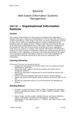 02 BIS4430_Unit02_Organazational Information Systems_Notes