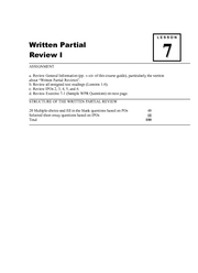 07 Lesson Written Partial Review I
