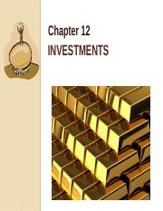04042014_Chapter 12_Overview_HTM_Trading_Securities