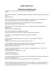 Test 2 Study Guide Medication Administration.doc