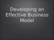 Business Model Analysis ICS
