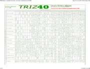 TRIZ Matrix, Contradictions table, overcome contradiction with TRIZ