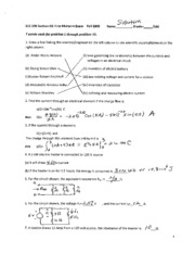 First Midterm  Solution