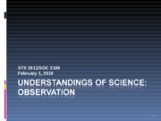 Understandings of Science Observation 020110