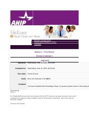 AHIP Section Questions - Medicare Course Home.docx