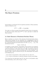3The Bayes Premium