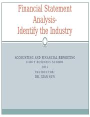 Financial Statement Analysis-Indentify the Industry.pptx