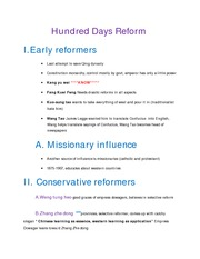 7.Hundred Days Reform