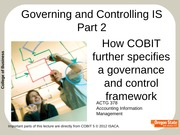 Governing And Controlling IS Part 2