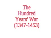 Chapter 9-The Hundred Years' War